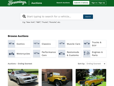 Hemmings Launches Online Auctions