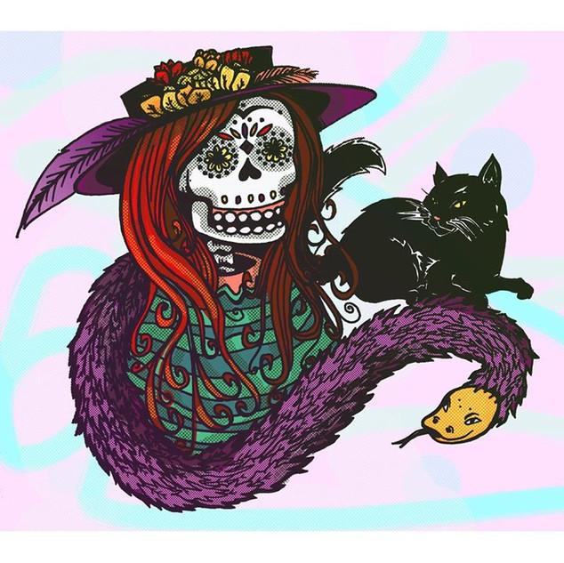 La Catrina ☠️💀🎃👻🙀😸🧙♀️ #drawing #i