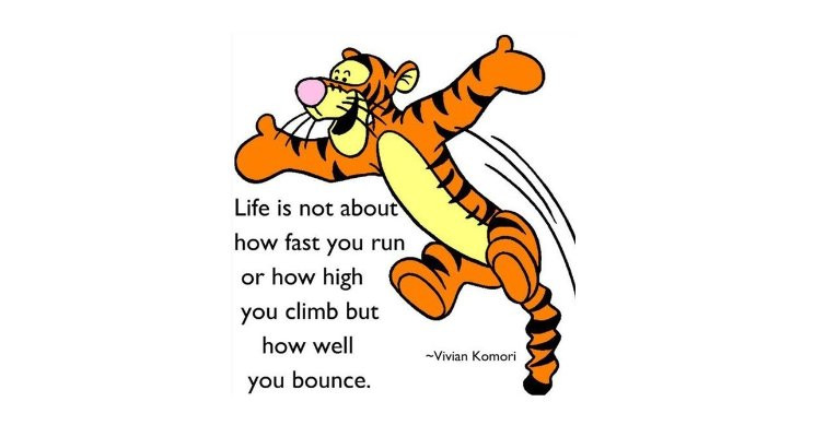 Bouncing back quote
