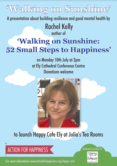 We're walking on sunshine with a visit from Rachel Kelly