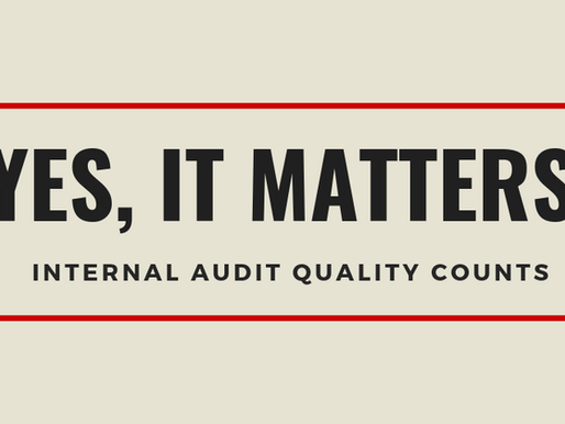 Setting the Scene for Internal Audit Quality