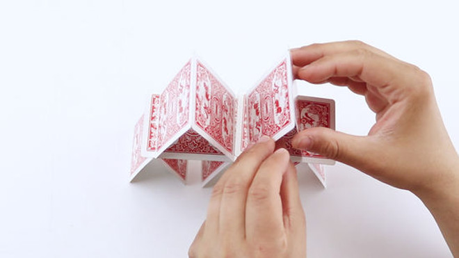 Build the tower with playing cards