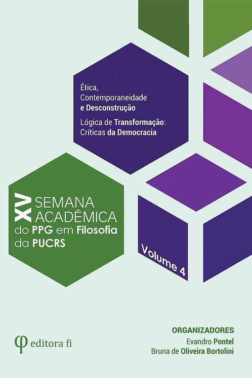 XV Semana Acadêmica - Volume 4