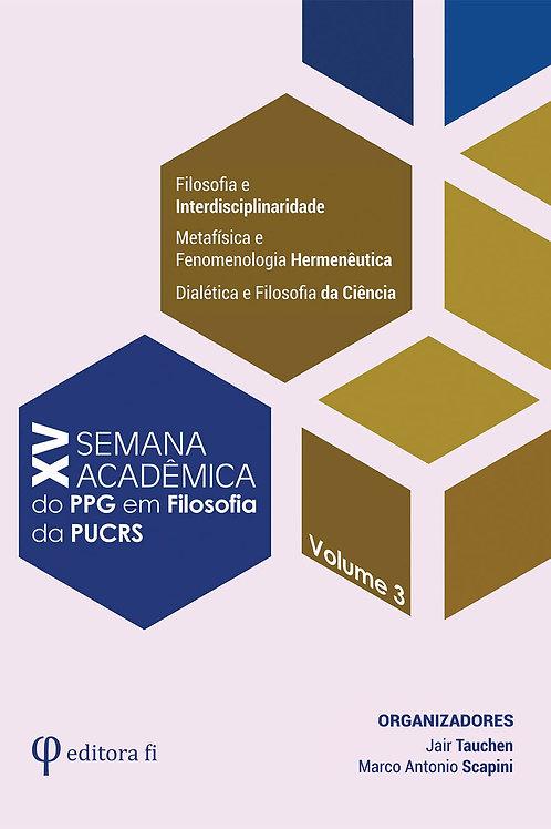 XV Semana Acadêmica - Volume 3