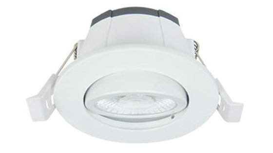 Spot LED rond 6W  SWITCH T° orientable blanc
