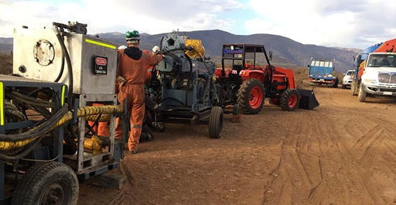 Arrival of drilling equipment