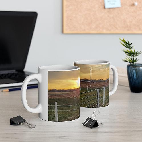 The Sweet Life Farm Country Sunset Coffee Tea Hot Chocolate Mug 11oz