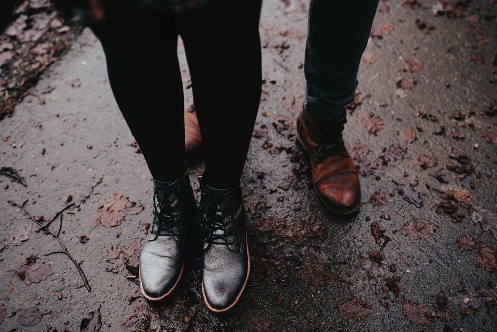 Paarshooting.Schuhe.Matschwetter.Shootin