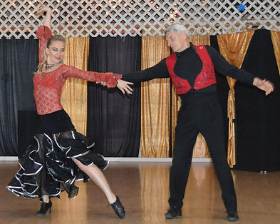 Eugenia and Jerry dancing the Paso Double