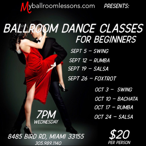Ballroom Classes for Beginners in Miami