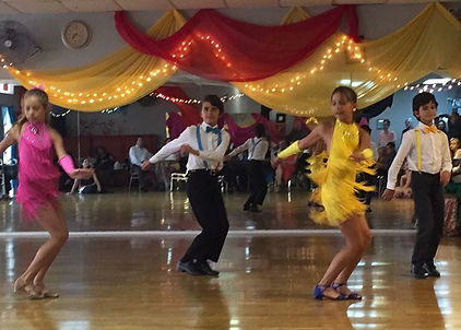 Swing dance performance at showcase