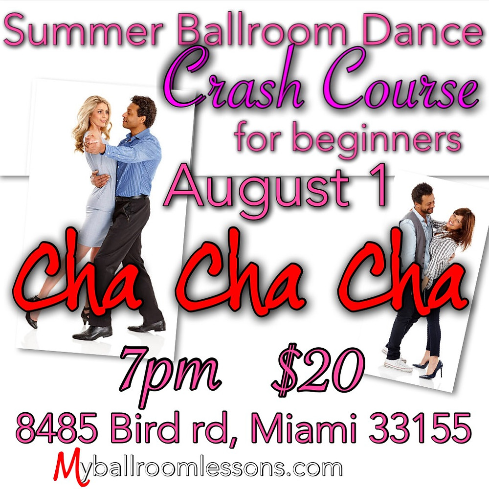 Ballroom dance crash for beginners in Miami Area hosted by Eugenia Spotar and Myballroomlessons.com
