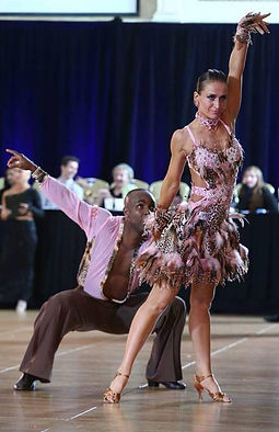 ballroom dance couple Eugenia spotar at myballroomlessons.com