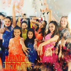 Girls' latin fusion class Miami