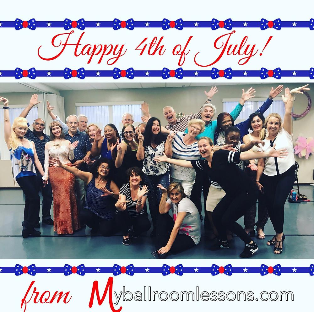 Ballroom Dancing Miami group wishes everyone safe and fun celebration.