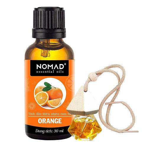 Tinh Dầu Vỏ Cam Nomad Essential Oils Orange 30ml Và Vỏ Tinh Dầu Dạng Treo