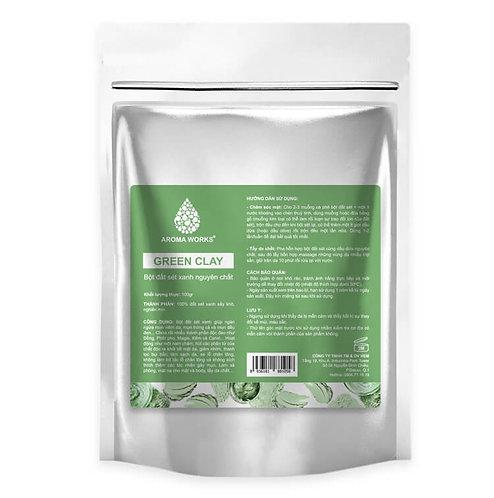 Bột Đất Sét Xanh Nguyên Chất Aroma Works Green Clay Powder - 100g