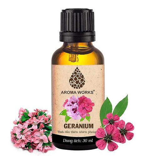 Tinh Dầu Thiên Nhiên Phong Lữ Aroma Works Essential Oil Geranium