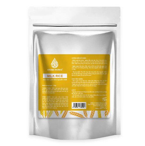 Bột Cám Gạo Sữa Nguyên Chất Aroma Works Milk Rice Powder - 100g