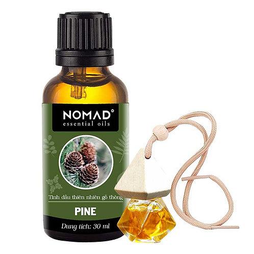 Tinh Dầu Gỗ Thông Nomad Essential Oils Pine 30ml Và Vỏ Tinh Dầu Dạng Treo