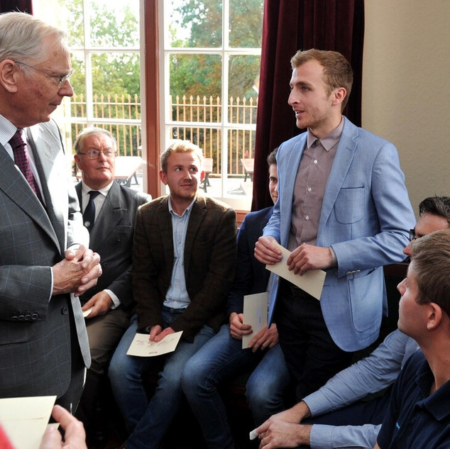 Duke of Gloucester meet former apprentices
