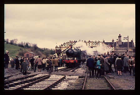 The first train out of Bridgnorth in 197