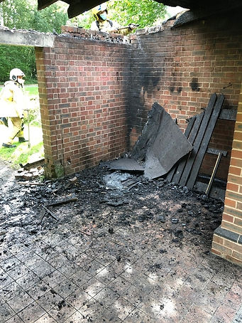 Arson at Country Park Halt, August 2020.