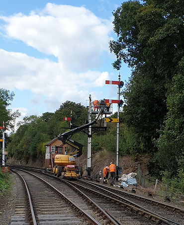 Bewdley South signal temporary replaceme