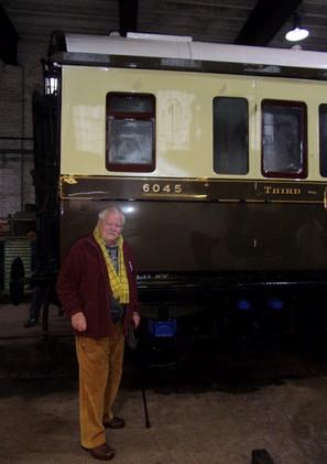 Robert Smallman with 6045. Credit D Massey
