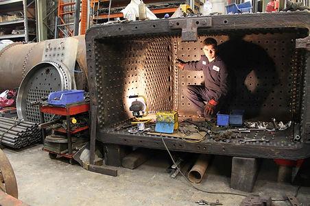 Apprentice Jack Kerswill installing patc