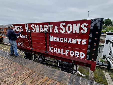Jack Russell signwriting at the KRM in August 2021. Mike Anderson.jpg