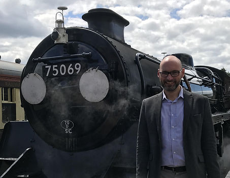 Nick Ralls with recently restored 75069.