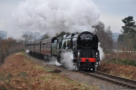 34053 Sir Keith Park on Christmas servic