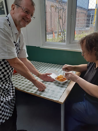 Volunteers step in to catering for staff