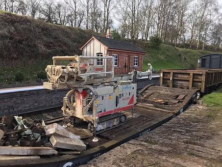 Drilling rig at Eardington Matt Robinson