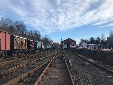 Bewdley yard looking very different to n
