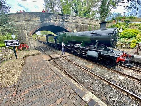 2857 arrives at Arley on 9th May 2021 wi