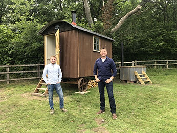 Max Green and George Clarke with Max's t