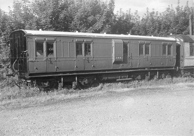 GWR Dean Passenger Full Brake No. 933, thought to have been taken at the SVR. This vehicle came to the SVR in 1968 and was bequeathed to GWS at Didcot, leaving in 1976