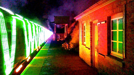 Steam in lights passes Eardington Decemb