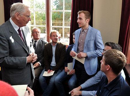 Duke of Gloucester meeting former appren