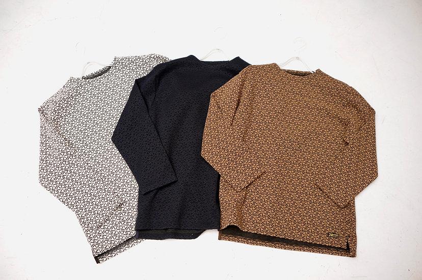 COLIMBO/ZU-0434/ジャガードボートネックシャツ