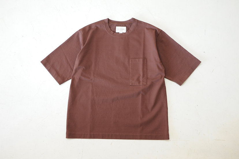 STILL BY HAND/CS04202/2/5 Sleeve Pocket T-Shirts