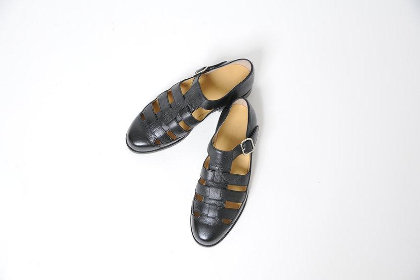 BARKER/Deerskin leather gurkha sandal