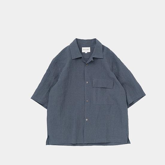 STILL BY HAND/SH003212/オープンカラーリネンシャツ