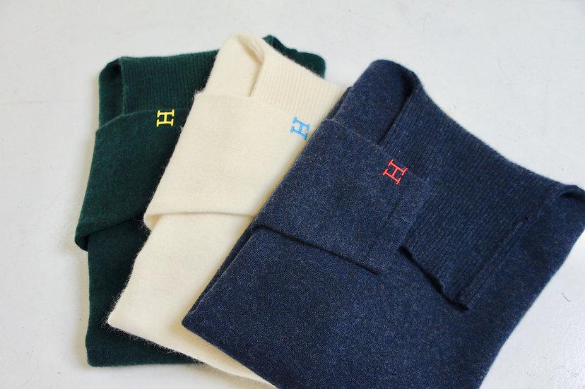 HRM/700057857/メリノコットン アンゴラタートルネックセーター