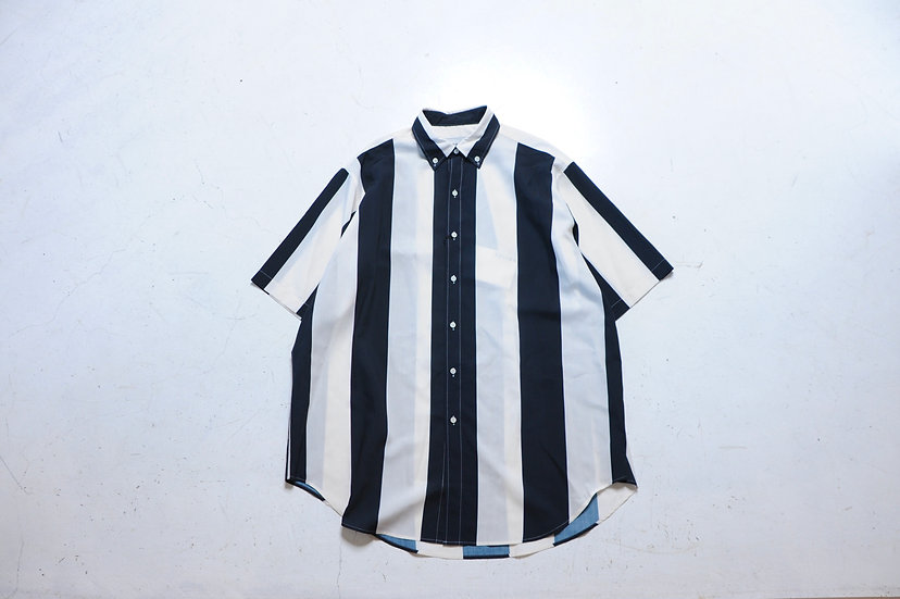 UNITUS/UTSSS21-S06/Super Large Half Sleeve Shirt Stripe