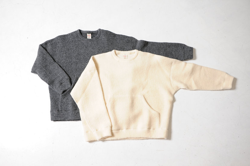 GOLD/ GL68552/BOUCLE WOOL KNIT CREW NECK
