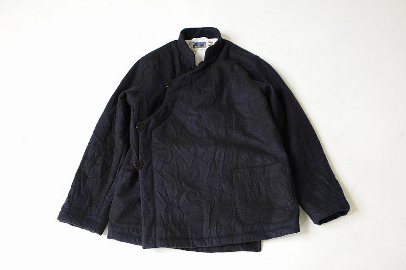 BULE BLUE/700077194/カゴゾメウールフラノ プリマロフトオリエンタルジャケット