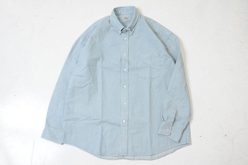 GOLD/ GL28293/デニムボタンダウンビックシャツ